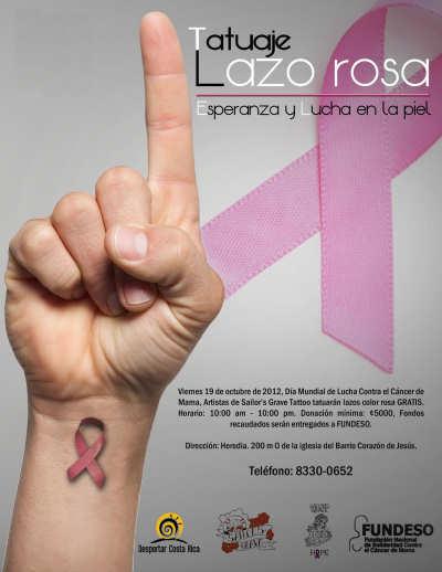 Tatuaje Lazo Cancer ticovisión costa rica